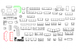 Furniture equipment plan detail dwg file.