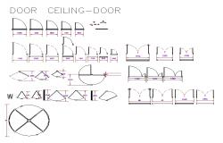 Furniture equipment plan detail dwg.