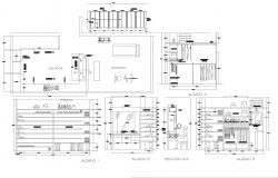 Furniture for dress room autocad file