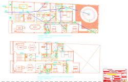 Furniture layout of house