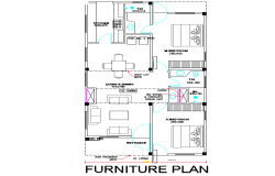 Furniture layout plan detail dwg file
