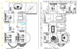 Furniture layout plan details