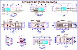 Furniture plan and elevation of different types dwg file