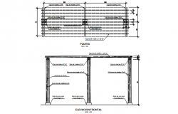 Furniture plan detail dwg file