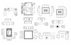 Furniture plan detail dwg file.