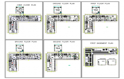 G.F & F.F & S.F Plan Lay-out Design