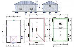Garage Design 2d AutoCAD Drawing download