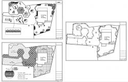 Garden Design Plan CAD File