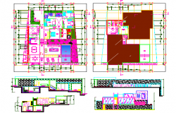 Garden House Architecture Elevation, Section and Structure Details dwg file