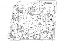 Garden Landscape Design AutoCAD File Free