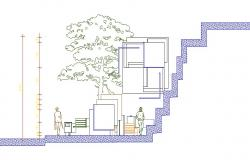 Garden cut section and wall cad drawing details dwg file