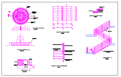 Garden decorative equipment architecture project dwg file