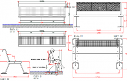 Garden elements details dwg file