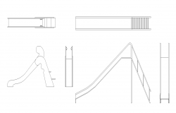Garden equipment detail elevation 2d view layout autocad file