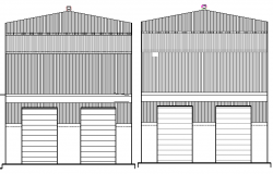 Garnet Shop Design and Elevation Plan dwg file