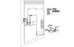 Gas installation cad drawing details dwg file