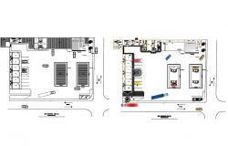 Gas installation plant building floor plan details dwg file