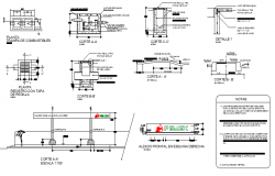 Gas station plant all side cut sectional view dwg file