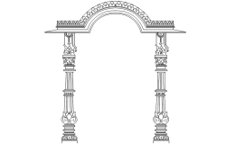 Gate design drawing in dwg file