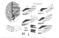 Gavion ceiling constructive structure cad drawing details dwg file