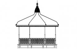 Gazebo Design Elevation AutoCAD drawing