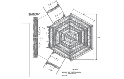 Gazebo plan detail dwg file