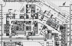 General Health Center Structure Details dwg file