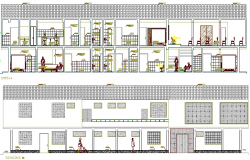 General Hospital Architecture Elevation and Section Details dwg file