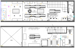 General Store of Commercial Building Design and Elevation dwg file