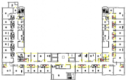 General Ward of Hospital layout plan dwg file