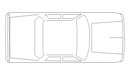 General car top view cad block design dwg file