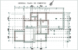 General construction view for house dwg file