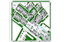 General distribution plan details of multi-flooring hospital dwg file