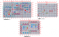 General hospital plan detail dwg file