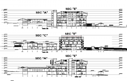General hospital sectional plan detail dwg file.