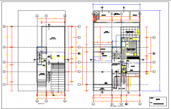 General layout plan details of house dwg file