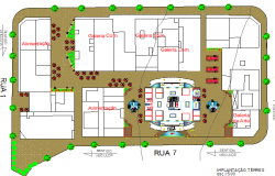General layout plan details of multi-functional building dwg file
