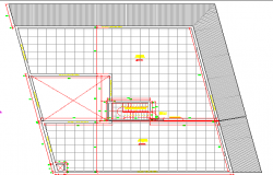 General layout plan view of office floor dwg file