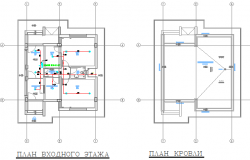 General layout plan with sanitary installation of office dwg file