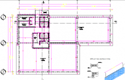 General plan details of office layout dwg file