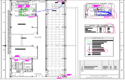 General plan with sanitary installation of twelfth floor of office building dwg file