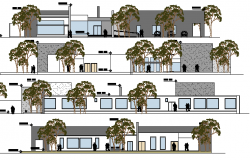 Geriatric Center Architecture Layout and Elevation dwg file