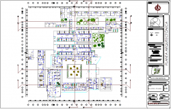 Geriatric hospital architectural plan dwg file
