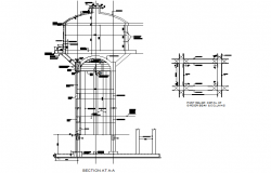 Girder beam and column detail dwg file