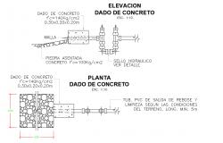 Given concrete plan dwg file