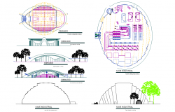 Glass packs factory plan detail dwg file