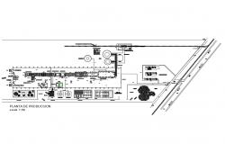 Glass production industrial plant plan cad drawing details dwg file