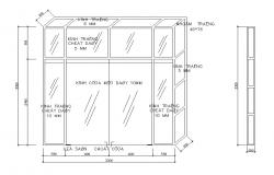 Glass structure CAD block detail layout file in autocad format