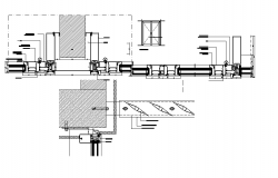 Glass wall system detail dwg file