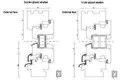 Glazed Window Detail DWG File